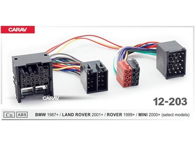 ISO-переходник BMW 1987+, Land Rover 2001+, Rover 1999+, Mini 2000+ Carav 12-203