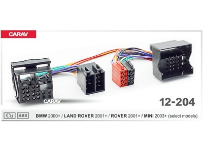 ISO-переходник BMW 2000+, Land Rover 2001+, Rover 2001+, Mini 2003+ Carav 12-204