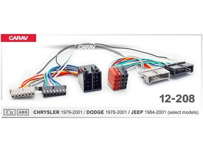 ISO-переходник Chrysler 1979-2001, Dodge 1978-2001, Jeep 1984-2001 Carav 12-208